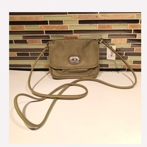 Fossil Leather Green Crossbody